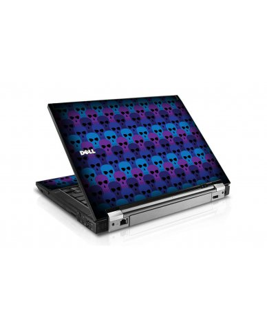 Blue Skulls Dell E6400 Laptop Skin