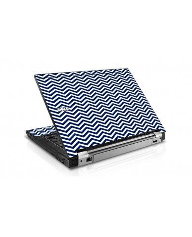 Blue Wavy Chevron Dell E6400 Laptop Skin