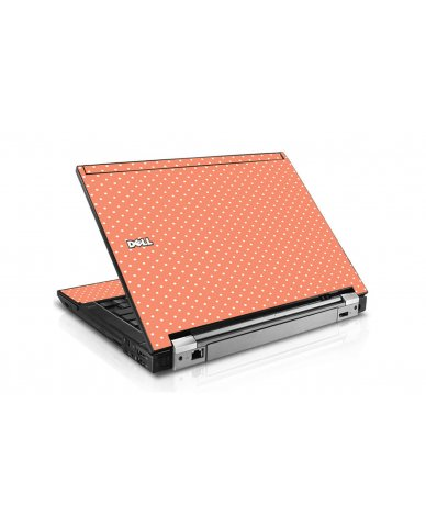 Coral Polka Dot Dell E6400 Laptop Skin