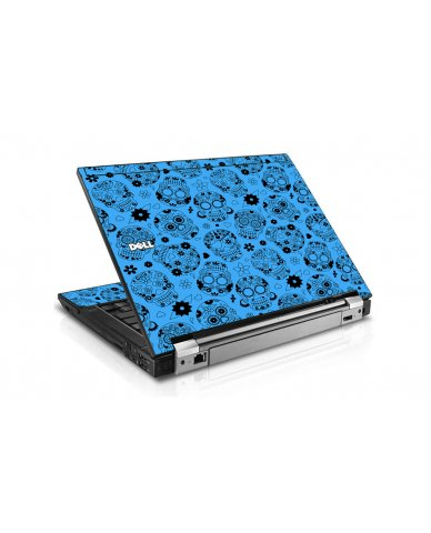 Crazy Blue Sugar Skulls Dell E6400 Laptop Skin
