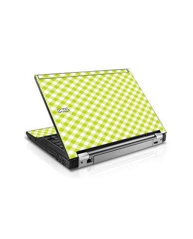 Green Checkered Dell E6400 Laptop Skin