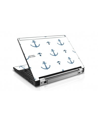 Multi Blue Anchors Dell E6400 Laptop Skin