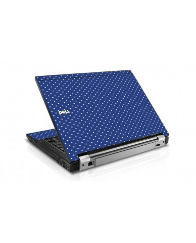 Navy Polka Dot Dell E6400 Laptop Skin