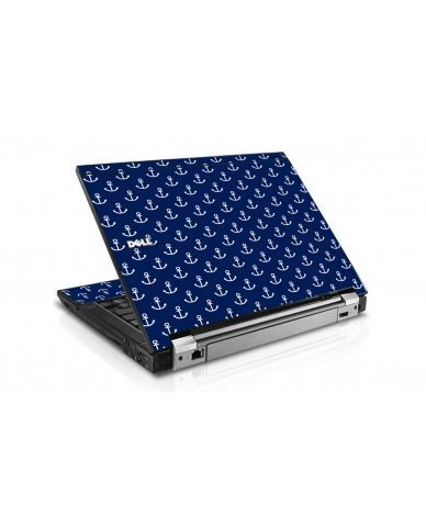 Navy White Anchors Dell E6400 Laptop Skin