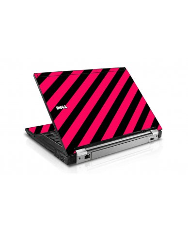 Pink Black Stripes Dell E6400 Laptop Skin