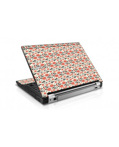 Pink Black Roses Dell E6400 Laptop Skin