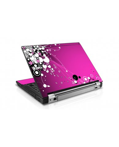 Pink Flowers Dell E6400 Laptop Skin