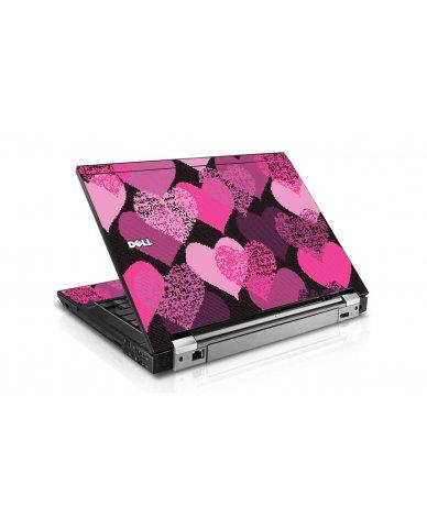 Pink Mosaic Hearts E6400 Laptop Skin