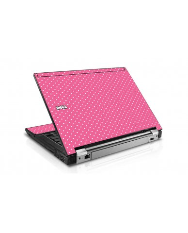 Pink Polka Dots Dell E6400 Laptop Skin