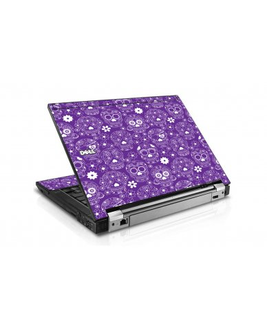 Purple Sugar Skulls Dell E6400 Laptop Skin