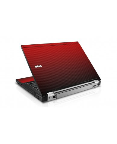 Red Carbon Fiber Dell E6400 Laptop Skin