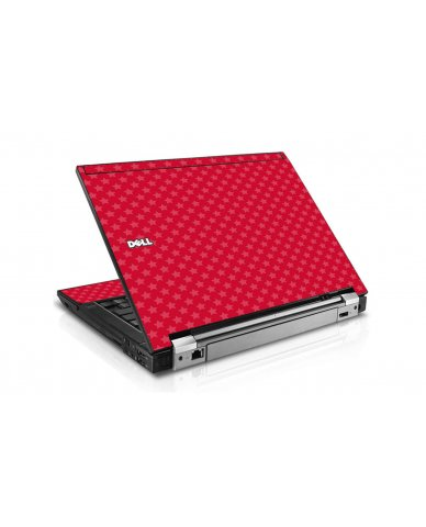 Red Pink Stars Dell E6400 Laptop Skin
