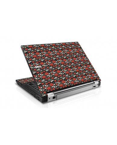 Black Red Roses Dell E6410 Laptop Skin