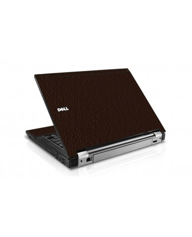 Brown Leather Dell E6410 Laptop Skin