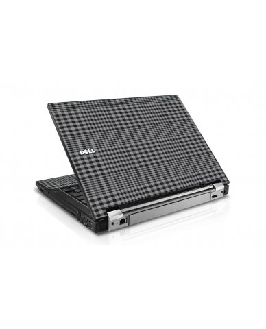 Darkest Grey Plaid Dell E6410 Laptop Skin