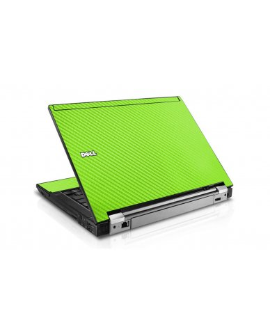 Green Carbon Fiber Dell E6410 Laptop Skin