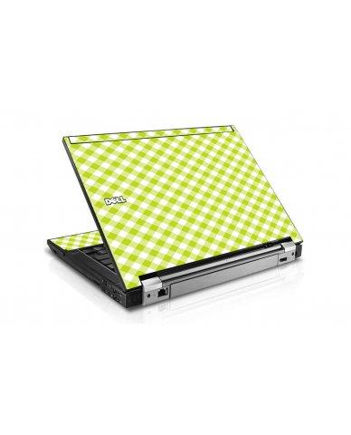 Green Checkered Dell E6410 Laptop Skin