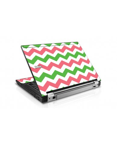 Green Pink Chevron Dell E6410 Laptop Skin