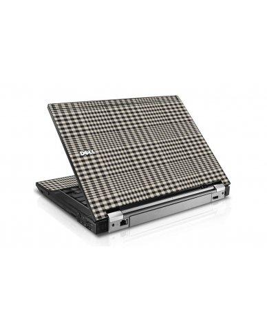 Grey Plaid Dell E6410 Laptop Skin