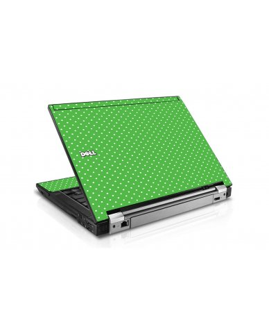 Kelly Green Polka Dell E6410 Laptop Skin