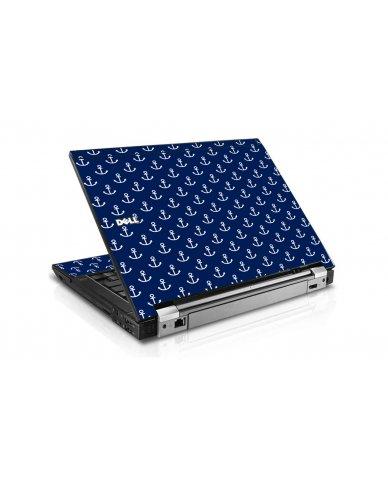 Navy White Anchors Dell E6410 Laptop Skin