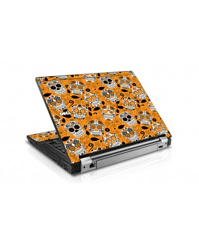 Orange Sugar Skulls Dell E6410 Laptop Skin