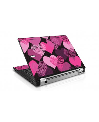 Pink Mosaic Hearts Dell E6410 Laptop Skin