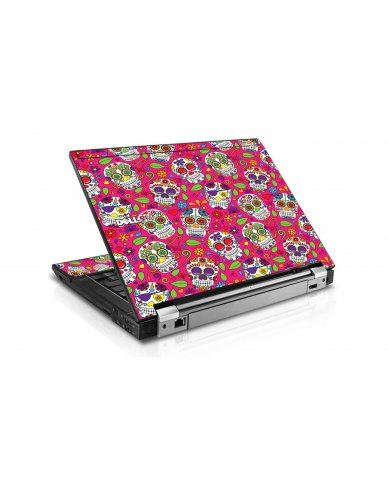 Pink Sugar Skulls Dell E6410 Laptop Skin