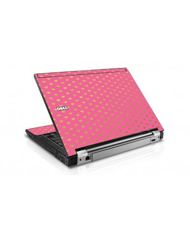 Pink With Gold Hearts Dell E6410 Laptop Skin