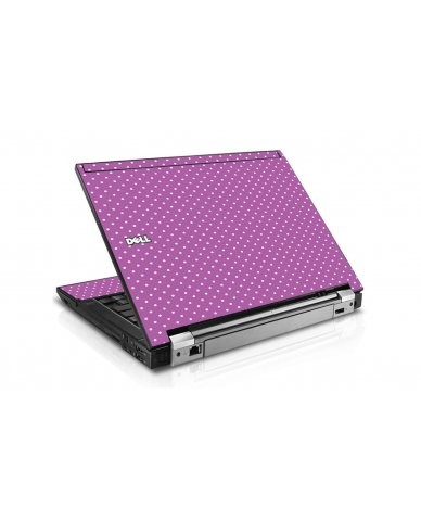 Purple Polka Dot Dell E6410 Laptop Skin
