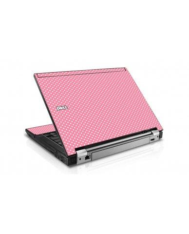 Retro Salmon Polka Dell E6410 Laptop Skin