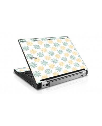 Yellow Green Flowers Dell E6410 Laptop Skin