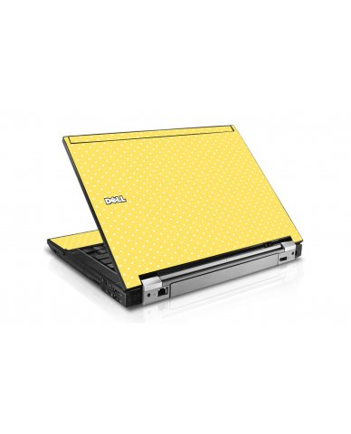 Yellow Polka Dot Dell E6410 Laptop Skin