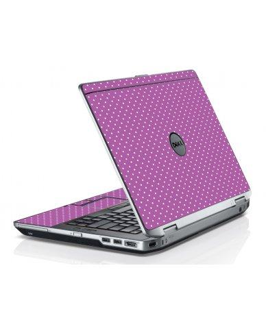 Purple Polka Dot Dell E6420 Laptop Skin