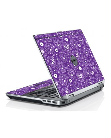 Purple Sugar Skulls Dell E6420 Laptop Skin