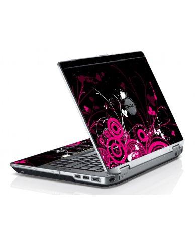 Black Pink Butterfly Dell E6430 Laptop Skin