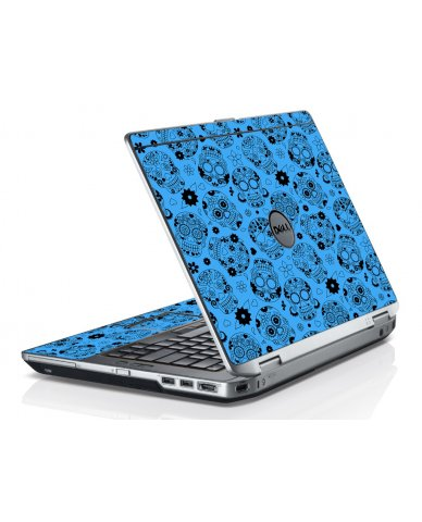 Crazy Blue Sugar Skulls Dell E6430 Laptop Skin