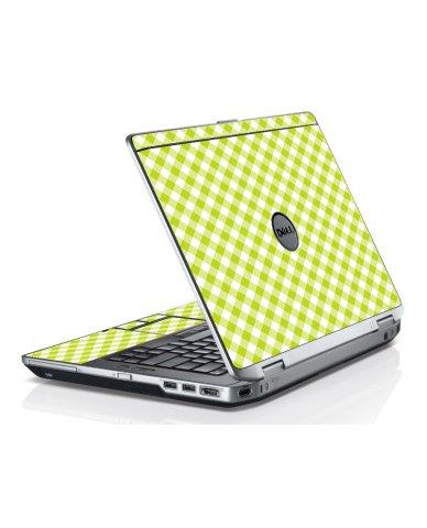 Green Checkered Dell E6430 Laptop Skin
