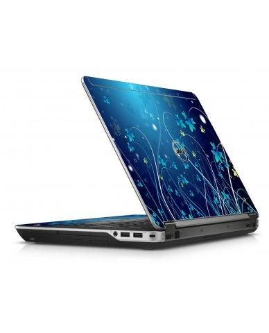 Blue Flowers Dell E6440 Laptop Skin