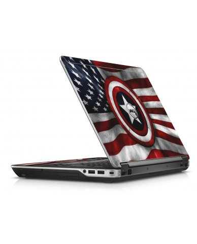 Capt America Flag Dell E6440 Laptop Skin