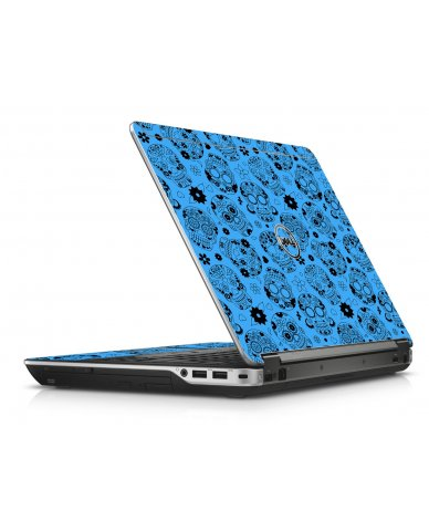 Crazy Blue Sugar Skulls Dell E6440 Laptop Skin