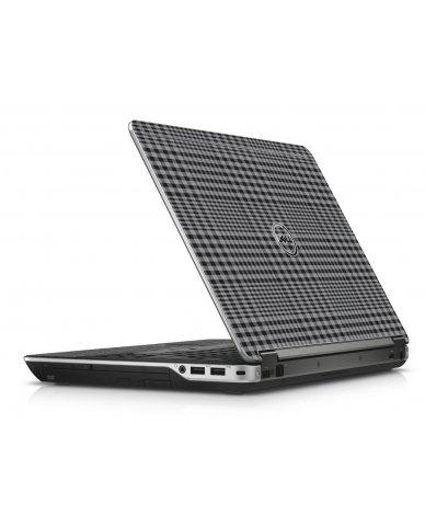 Darkest Grey Plaid Dell E6440 Laptop Skin
