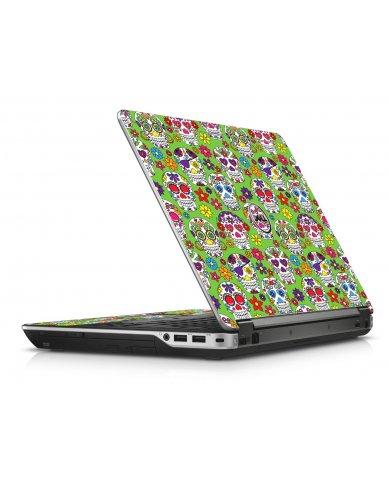 Green Sugar Skulls Dell E6440 Laptop Skin