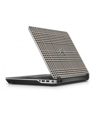 Grey Plaid Dell E6440 Laptop Skin