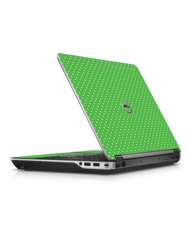 Kelly Green Polka Dell E6440 Laptop Skin