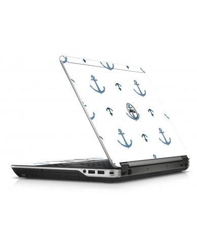 Multi Blue Anchors Dell E6440 Laptop Skin