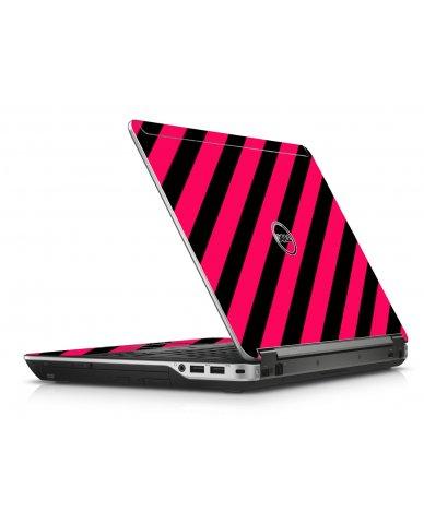 Pink Black Stripes Dell E6440 Laptop Skin
