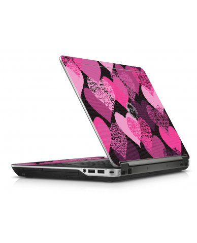 Pink Mosaic Hearts Dell E6440 Laptop Skin