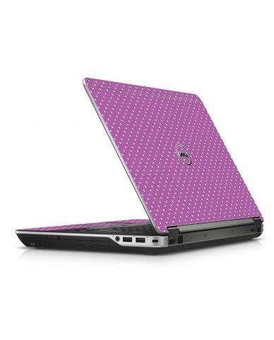 Purple Polka Dot Dell E6440 Laptop Skin