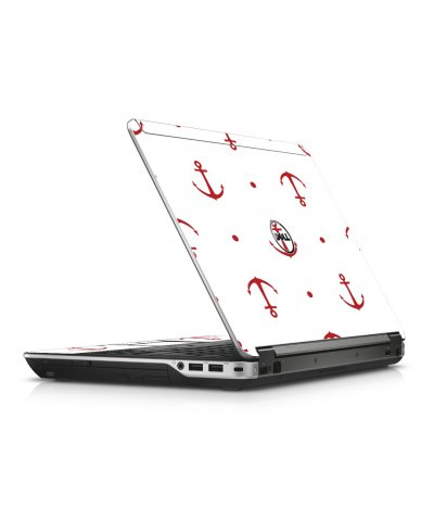 Red Anchors Dell E6440 Laptop Skin